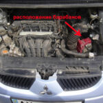 Mitsubishi Colt под капотом механизма выбора передач